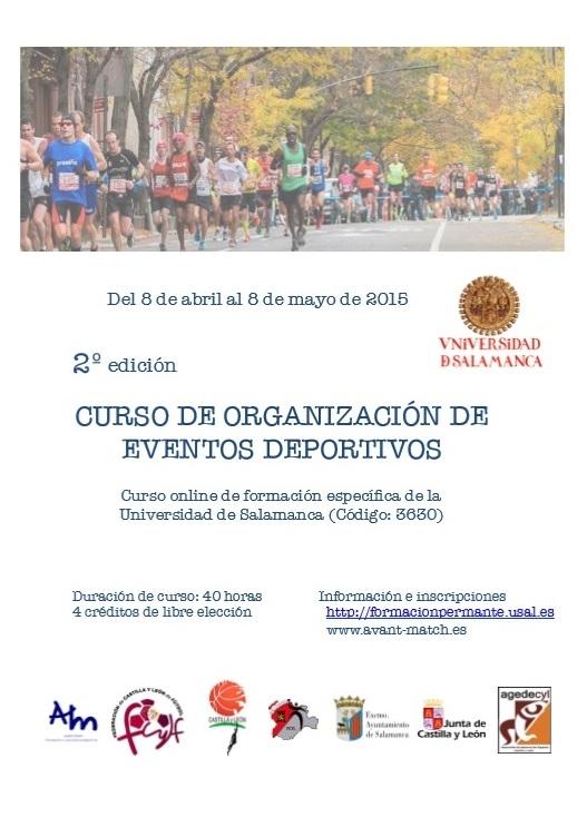 II CURSO ON LINE DE ORGANIZACION DE EVENTOS DEPORTIVOS