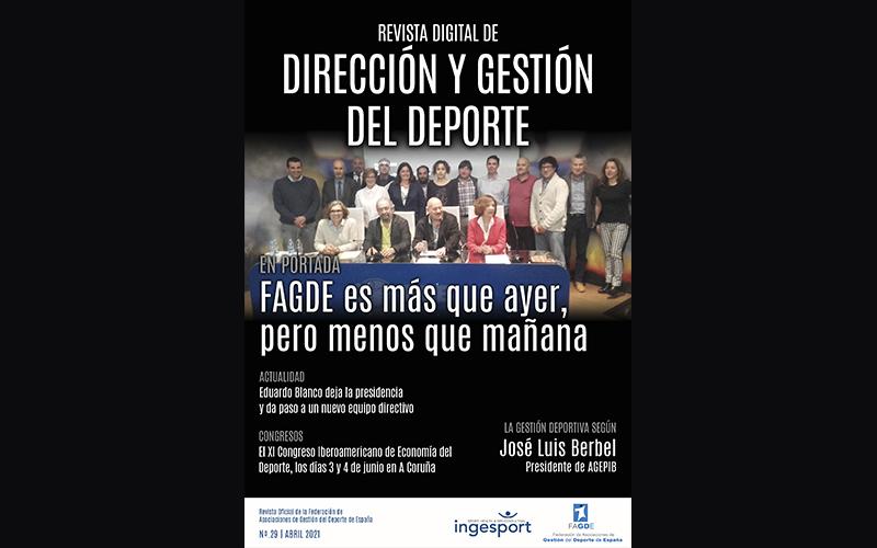 DISPONIBLE EL Nº 29 DE LA REVISTA DIRECCIÓN Y GESTIÓN DEL DEPORTE